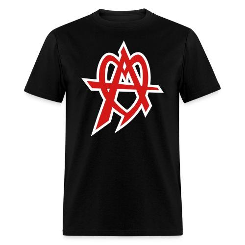 audiofilez red on black - Men's T-Shirt