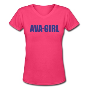 California Ava-Girl T-shirts - Women's V-Neck T-Shirt