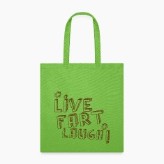 LIVE FART LAUGH joke fart lol Bags & backpacks