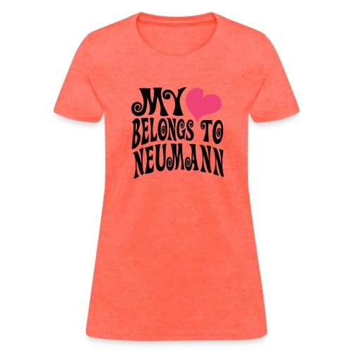 Women's Pink Heart Neumann Standard Weight T-Shirt - Women's T-Shirt