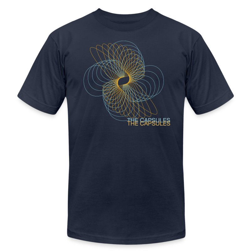 Spiral T-Shirt - AA - Navy - Men's T-Shirt by American Apparel