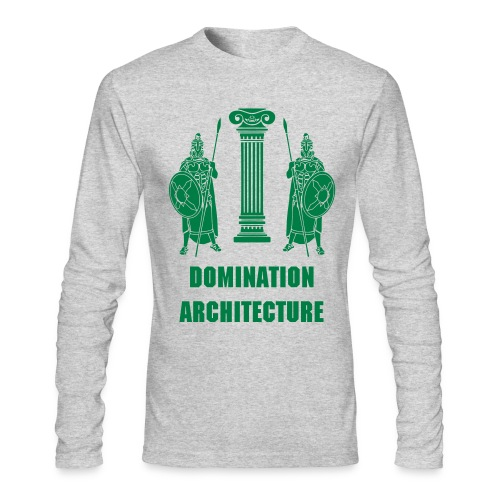 Domination Architecture - Men's Long Sleeve T-Shirt by Next Level