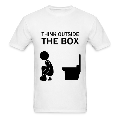 Think outside the box! - Men's T-Shirt