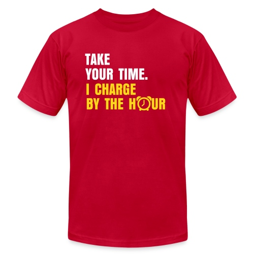 Charge By The Hour - American Apparel Tee - Men's  Jersey T-Shirt