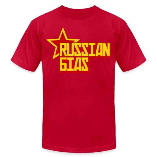 Russian Bias - Men's T-Shirt by American Apparel