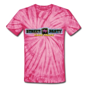 Unisex T-shirt Street Party Game Truck  - Unisex Tie Dye T-Shirt