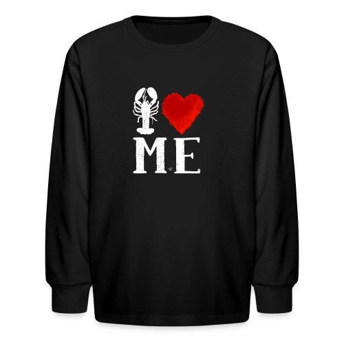 I Heart Maine (remix) by Tai's Tees - Kids' Long Sleeve T-Shirt