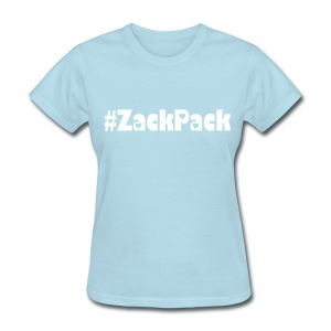 Women's Sky Blue and Whie  Zack Pack Tee - Women's T-Shirt