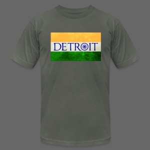 Detroit Indian Flag - Men's T-Shirt by American Apparel