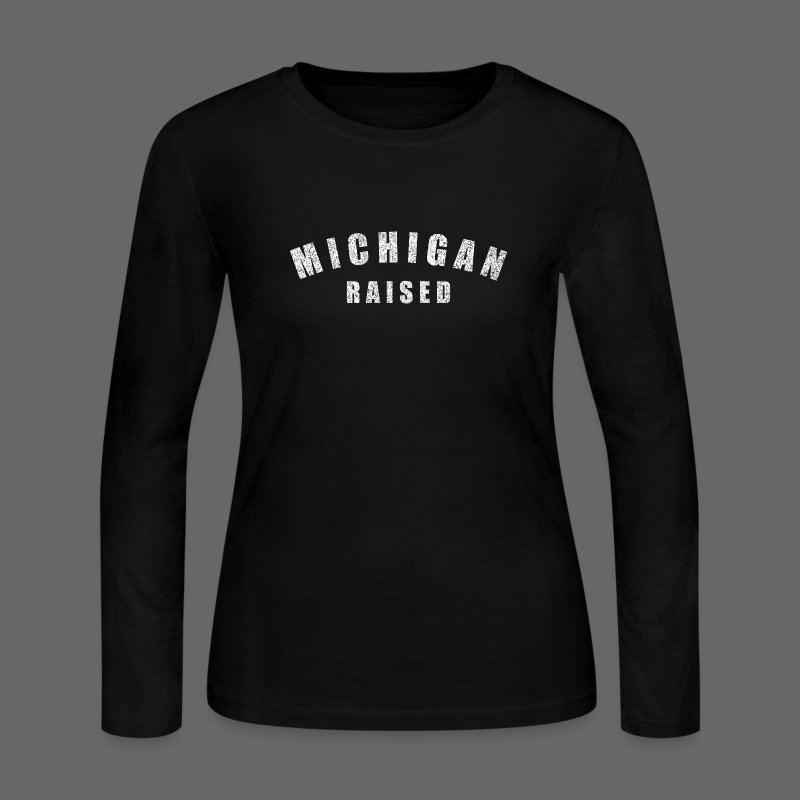Michigan Raised - Women's Long Sleeve Jersey T-Shirt