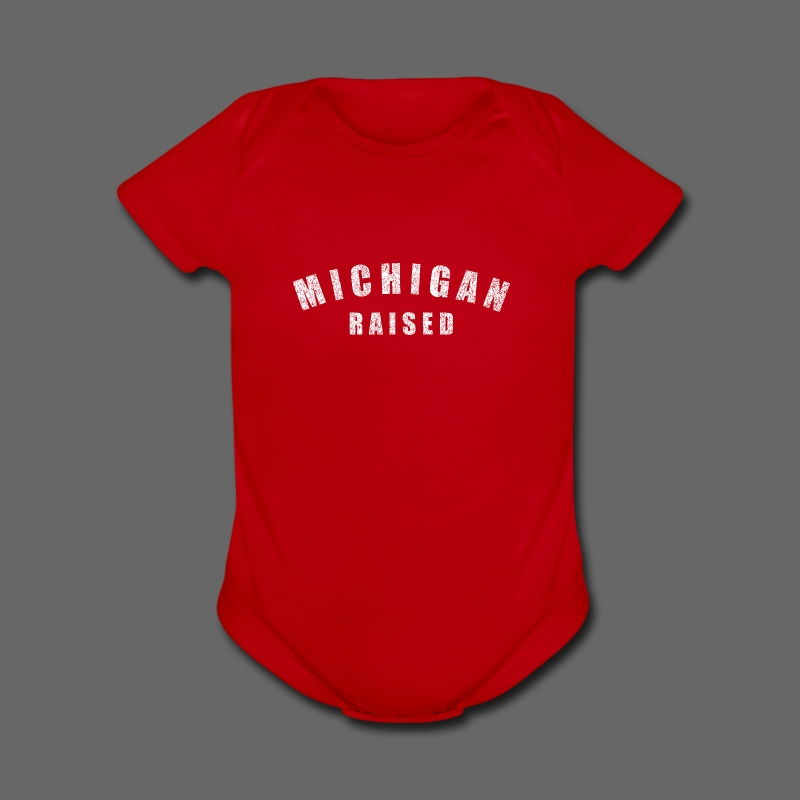 Michigan Raised - Short Sleeve Baby Bodysuit