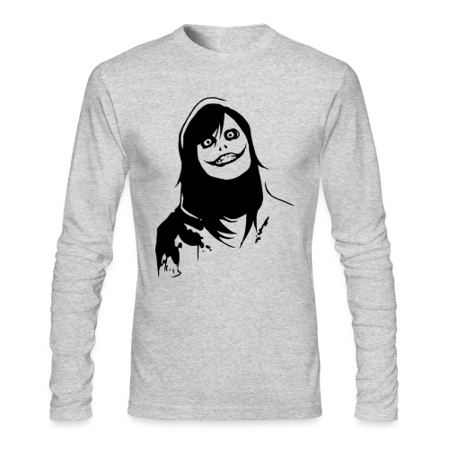 Jeff the Killer Long Sleeve  - Men's Long Sleeve T-Shirt by Next Level