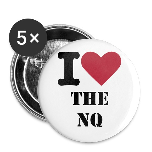 I Heart NQ 5 pack Buttons - Large Buttons