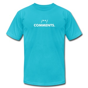 Expletive Comments (White Text) - Men's T-Shirt by American Apparel