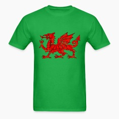 wales flag dragon distressed