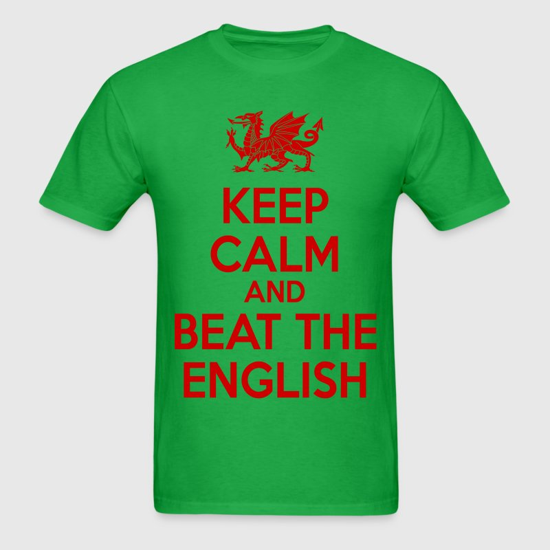 keep calm and beat the english - Men's T-Shirt