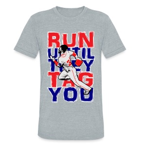 RUN TAG - Grey Unisex Triblend - Unisex Tri-Blend T-Shirt by American Apparel