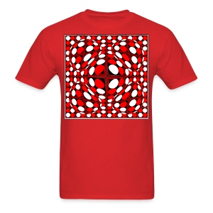 Op-9 Red White & Black - Men's T-Shirt