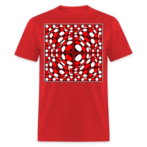 Op-9 Red White & Black - Men's T-Shirt