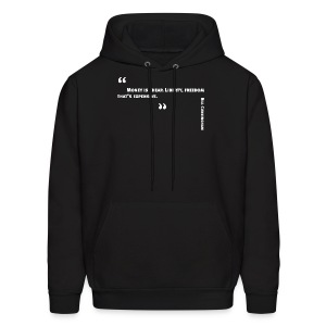 Photographer Bill Cunningham quote: Money is cheap. - Men's Hoodie
