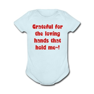 Loving Hands - Short Sleeve Baby Bodysuit