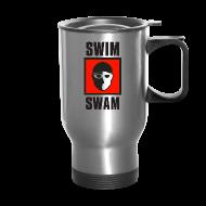 Mugs & Drinkware ~ Travel Mug ~ SwimSwam Square Travel Mug