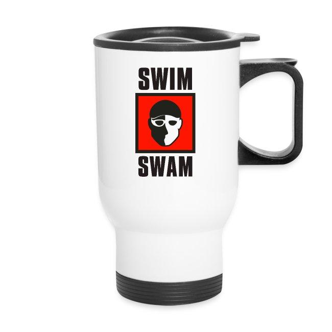 SwimSwam Square Travel Mug