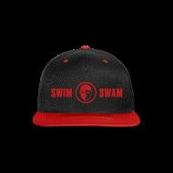 Sportswear ~ Snap-back Baseball Cap ~ SwimSwam Red 'n Black Snap Back