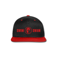 Sportswear ~ Snap-back Baseball Cap ~ SwimSwam Red 'n Black Snap Back
