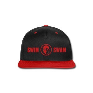 SwimSwam Red 'n Black Snap Back - Snap-back Baseball Cap