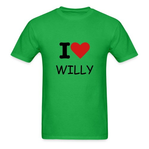 I Heart WIlly - Men's T-Shirt
