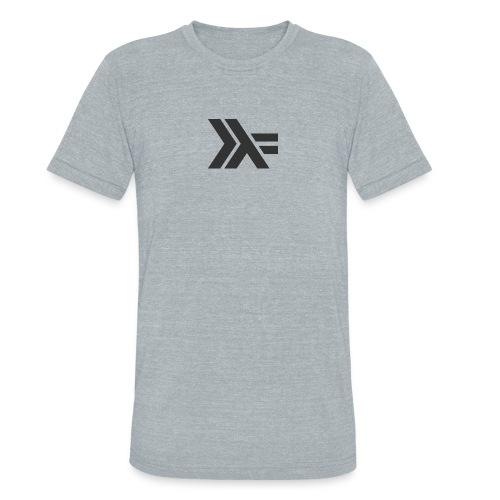 Black Haskell Logo :: Gray Shirt  - Unisex Tri-Blend T-Shirt