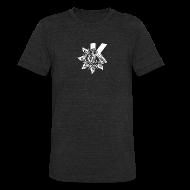T-Shirts ~ Unisex Tri-Blend T-Shirt ~ KDE logo with Indian influences