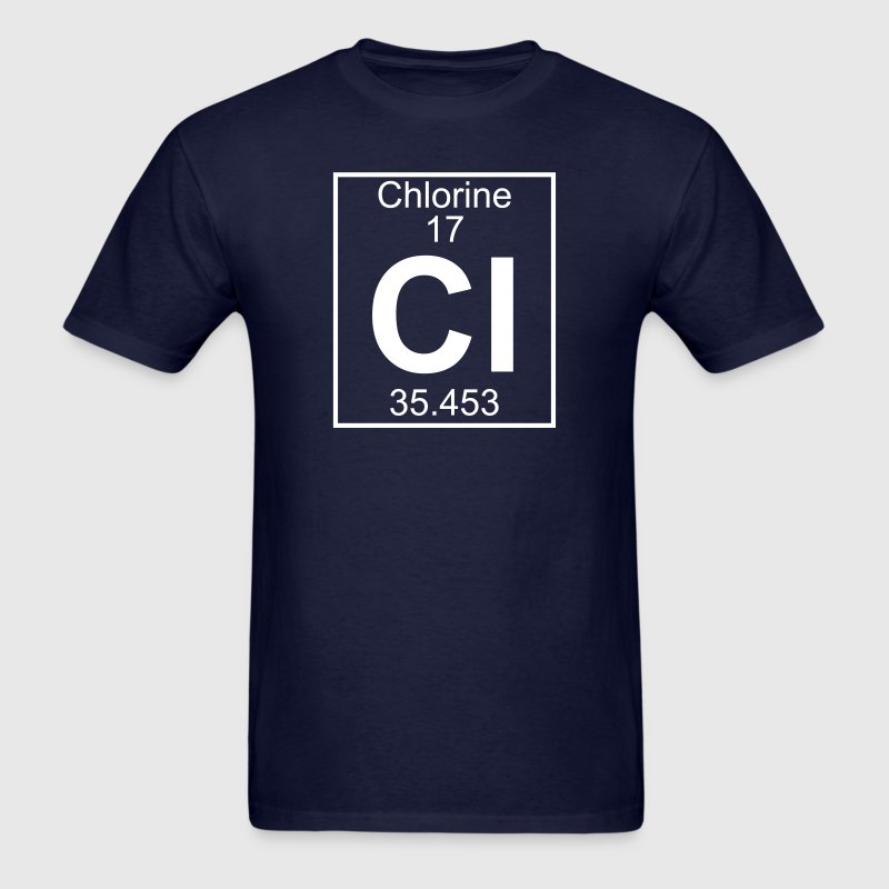 Element 017 - Cl (chlorine) - Full T-Shirts - Men's T-Shirt