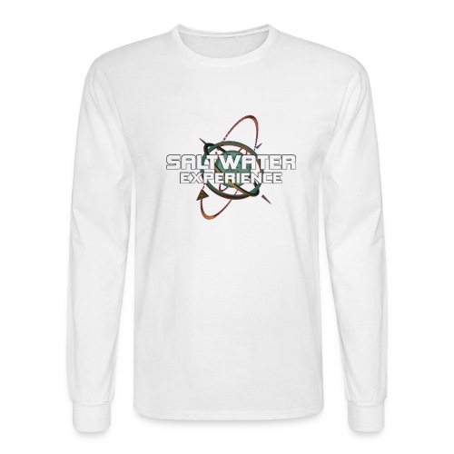 Hanes Long Sleeve 100% Cotton Front Logo - Men's Long Sleeve T-Shirt