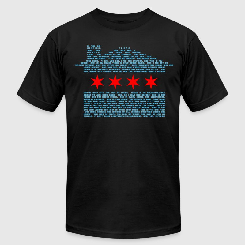 Jack's Chicago Flag - EDM T-Shirts - Men's T-Shirt by American Apparel