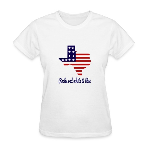 Texas Rocks Red White & Blue - Women's T-Shirt