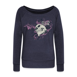 Ornamental Skull Sweatshirt - Women's Wideneck Sweatshirt
