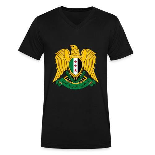 Unisex Vneck Coat of Arms - Men's V-Neck T-Shirt by Canvas