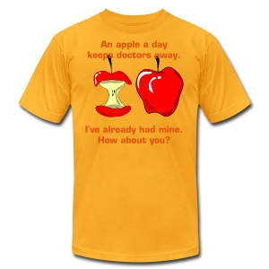 An apple a day keeps doctors away - Men's T-Shirt by American Apparel