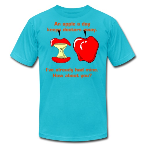 An apple a day keeps doctors away - Men's Fine Jersey T-Shirt