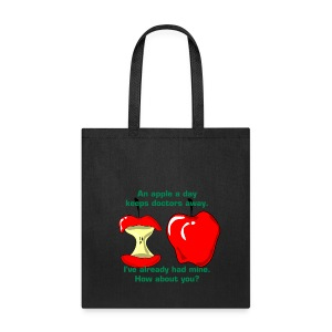 An apple a day keeps doctors away - Tote Bag