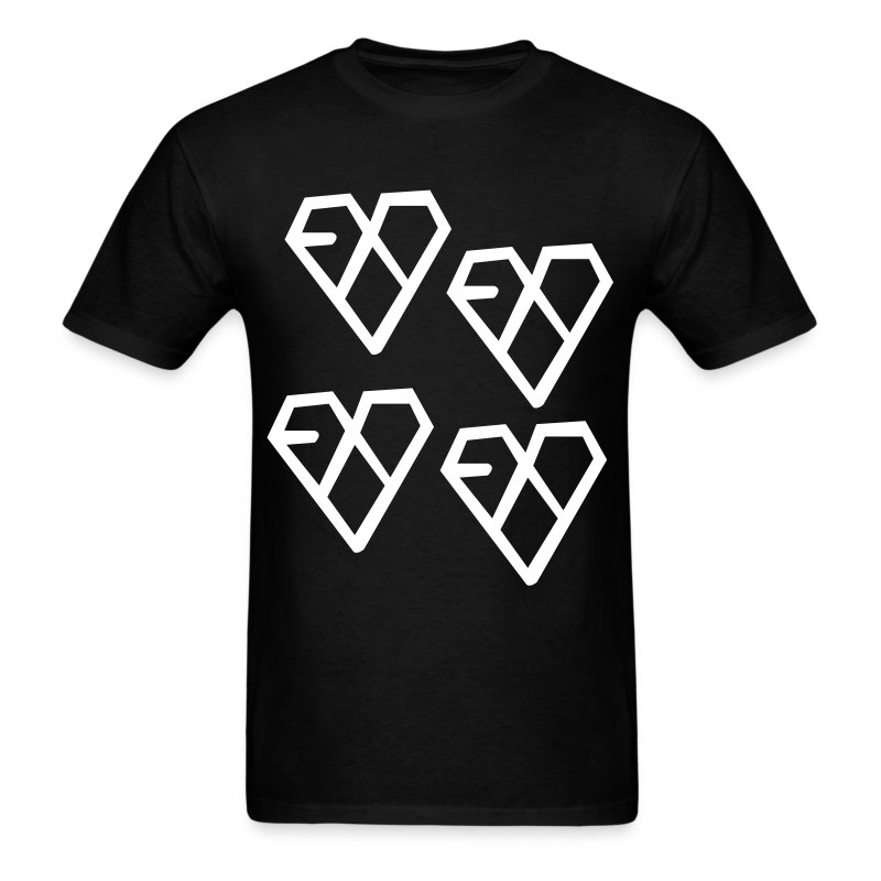 EXO - Wolf Logo (4x) - Men's T-Shirt