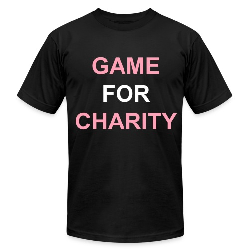 Game For Charity T-shirt - Men's Fine Jersey T-Shirt