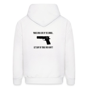 Those Who Live by the Sword Banner Hoodies - Men's Hoodie