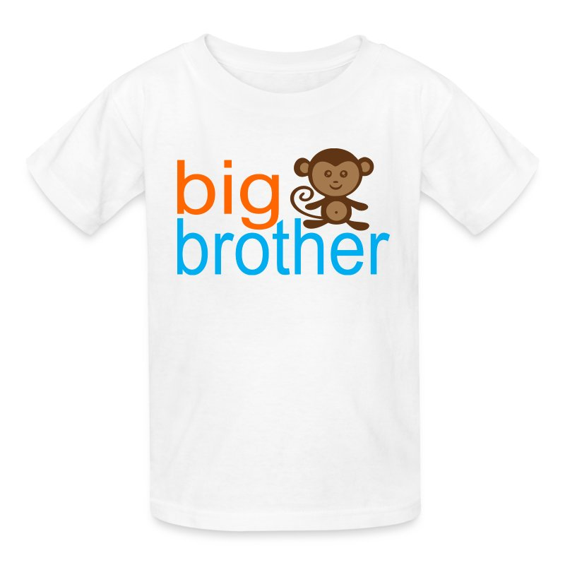 Big brother monkey t shirt spreadshirt for Big brother shirts for toddlers carters