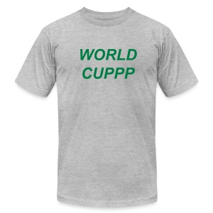 WORLD CUPPP GREEN/GRAY - Men's T-Shirt by American Apparel