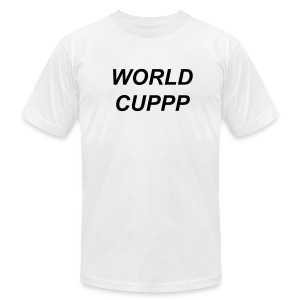 WORLD CUPPP BLACK/WHITE - Men's T-Shirt by American Apparel