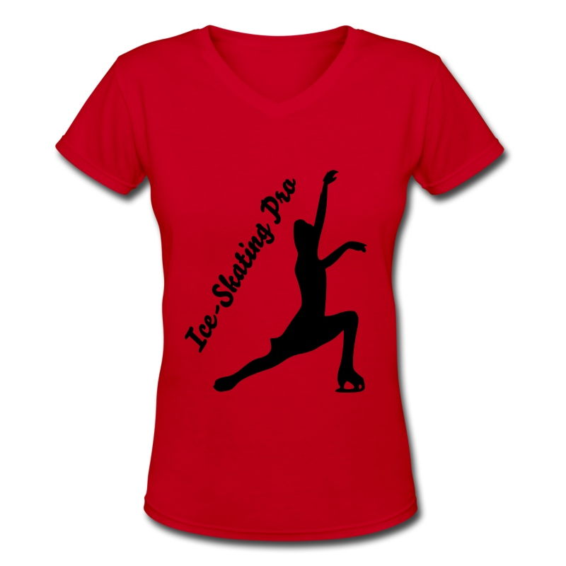 Ice-skating pro - Women's V-Neck T-Shirt