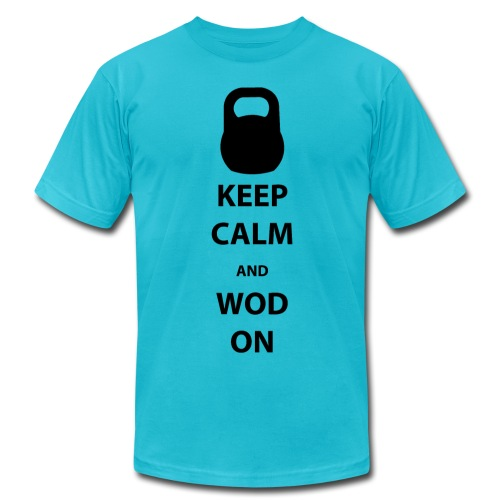 Keep Calm and WOD On - Men's Fine Jersey T-Shirt